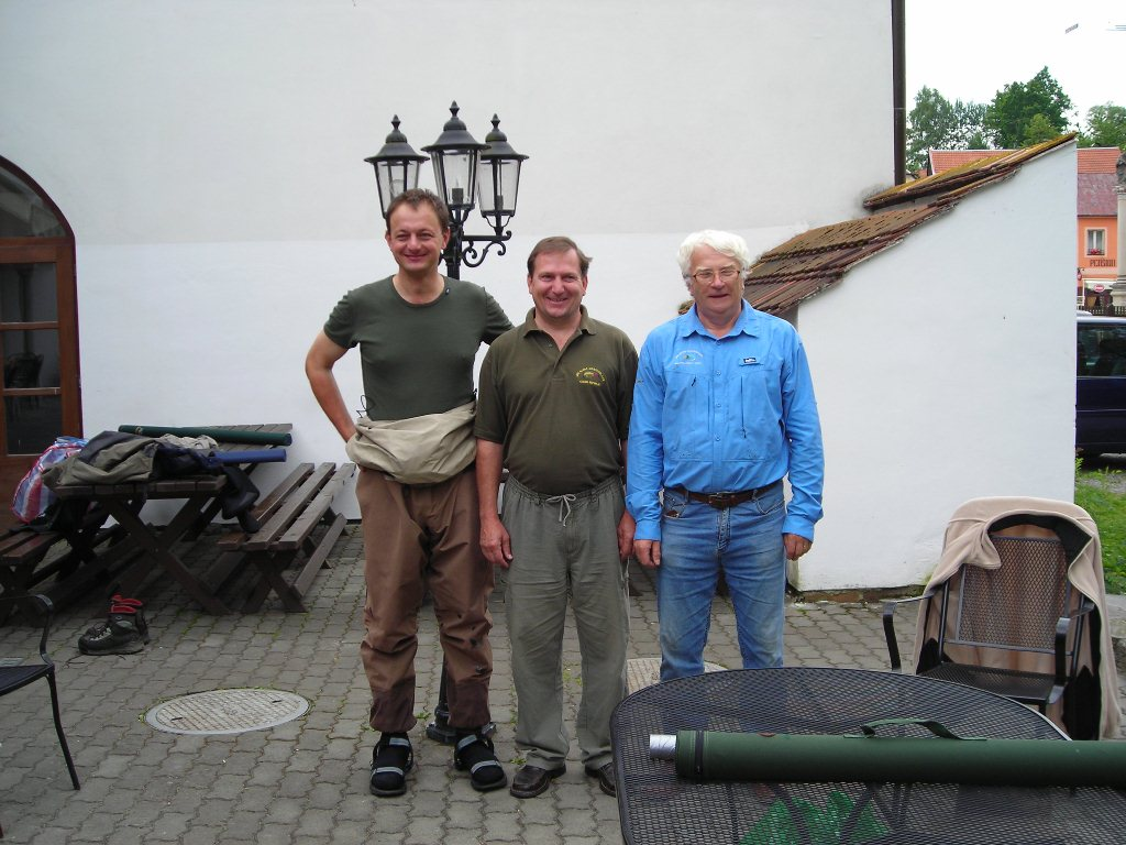 Instructors. From the left, Milan Hladik, Jiri Klima and Karel Krivanec on the right